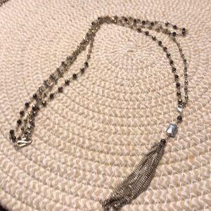 EUC vintage S&D stone necklace w/ removable tassel